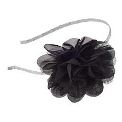 Girls 4-16 Mesh Flower Headband