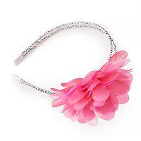 Girls 4-16 Double Band Flower Headband