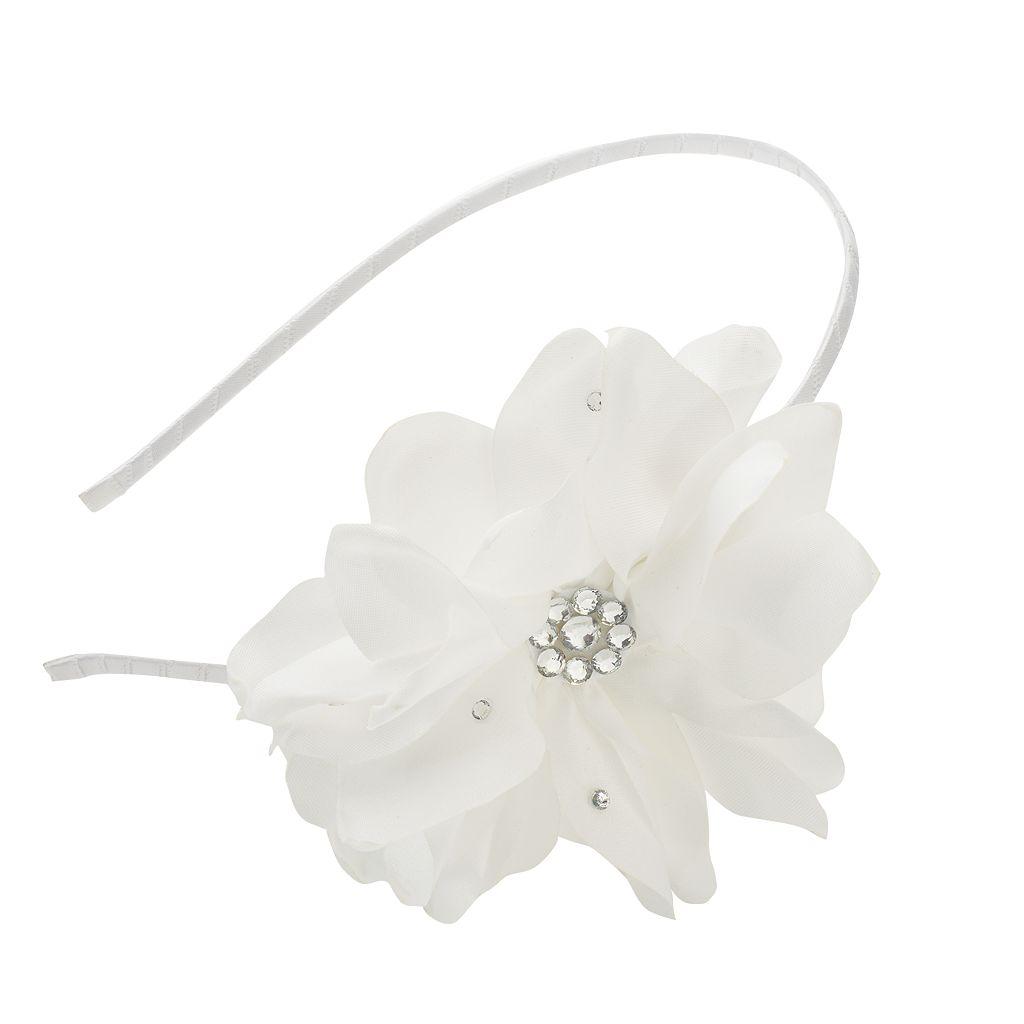Girls 4-16 Satin Flower Headband