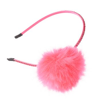 Girls 4-16 Faux Fur Pom Headband