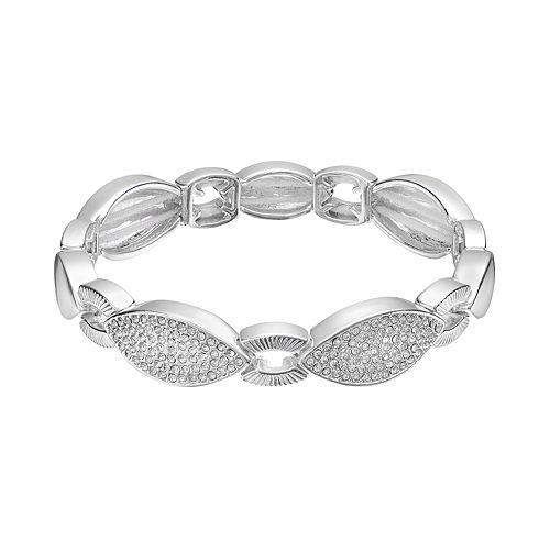Dana Buchman Pave Marquise Link Stretch Bracelet