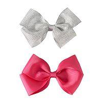Girls 4-16 2-pk. Metallic Hair Bows