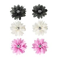 Girls 4-16 6-pk. Flower Hair Clips