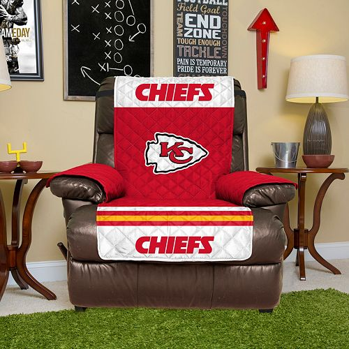 Astounding Kansas City Chiefs Quilted Recliner Chair Cover Bralicious Painted Fabric Chair Ideas Braliciousco