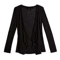 Girls 7-16 IZ Amy Byer Slub Draped Cardigan