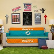 Miami Dolphins Quilted Sofa Cover