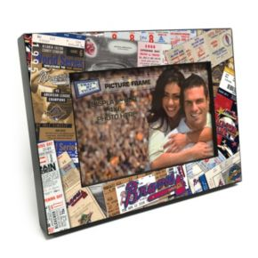 """Baltimore Orioles Ticket Collage 4"""" x 6"""" Wooden Frame"""
