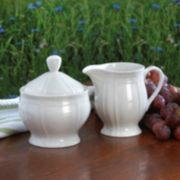 Mikasa Antique White  Sugar & Creamer Set