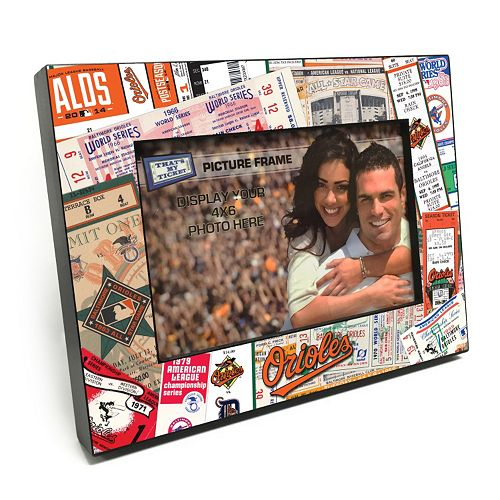 "Baltimore Orioles Ticket Collage 4"" x 6"" Wooden Frame"