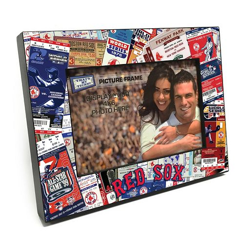 """Boston Red Sox Ticket Collage 4"""" x 6"""" Wooden Frame"""