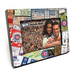 Chicago Cubs Ticket Collage 4' x 6' Wooden Frame
