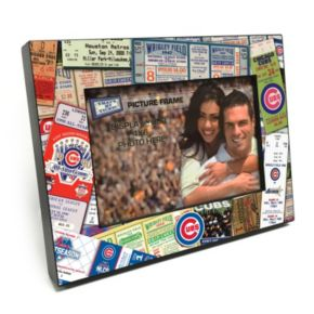 """Chicago Cubs Ticket Collage 4"""" x 6"""" Wooden Frame"""