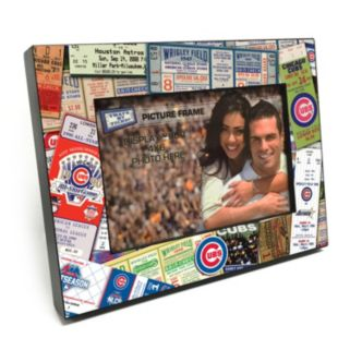 "Chicago Cubs Ticket Collage 4"" x 6"" Wooden Frame"