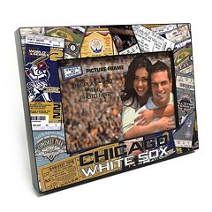 Chicago White Sox Ticket Collage 4' x 6' Wooden Frame