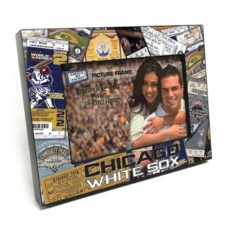 """Chicago White Sox Ticket Collage 4"""" x 6"""" Wooden Frame"""