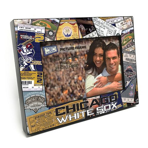 Chicago White Sox Ticket Collage 4 x 6 Wooden Frame