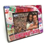 "Cincinnati Reds Ticket Collage 4"" x 6"" Wooden Frame"