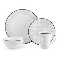 Mikasa Avery Chevron 4 pc Place Setting