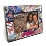 "Cleveland Indians Ticket Collage 4"" x 6"" Wooden Frame"