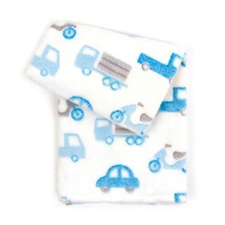 Tadpoles Textured Jacquard Printed Plush Baby Blanket