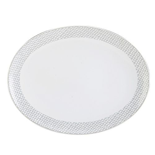 Mikasa Avery Dots 13.5-in. Oval Platter