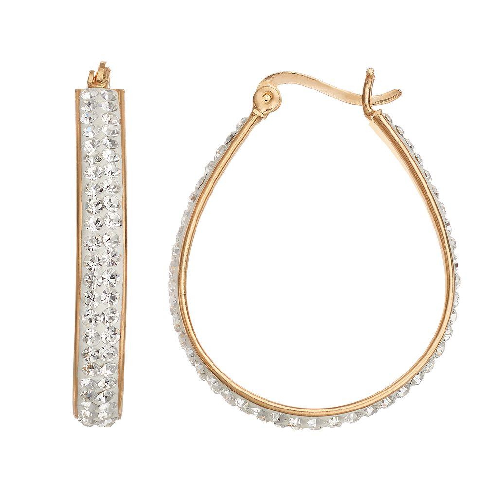Chrystina Crystal U-Hoop Earrings