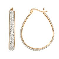 Chrystina Crystal U-Hoop Earrings