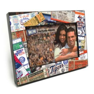 "Detroit Tigers Ticket Collage 4"" x 6"" Wooden Frame"