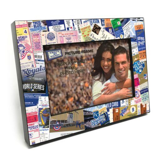 "Kansas City Royals Ticket Collage 4"" x 6"" Wooden Frame"