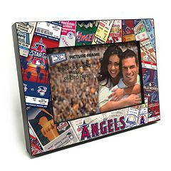 Los Angeles Angels of Anaheim Ticket Collage 4' x 6' Wooden Frame