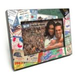 "Los Angeles Dodgers Ticket Collage 4"" x 6"" Wooden Frame"
