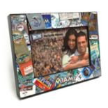 "Miami Marlins Ticket Collage 4"" x 6"" Wooden Frame"