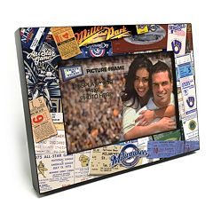 Milwaukee Brewers Ticket Collage 4' x 6' Wooden Frame