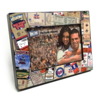 """Minnesota Twins Ticket Collage 4"""" x 6"""" Wooden Frame"""