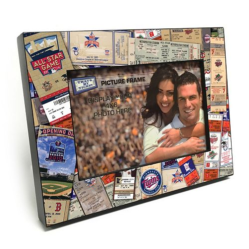 "Minnesota Twins Ticket Collage 4"" x 6"" Wooden Frame"