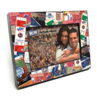 """New York Mets Ticket Collage 4"""" x 6"""" Wooden Frame"""