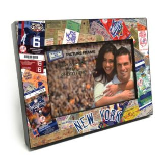 """New York Yankees Ticket Collage 4"""" x 6"""" Wooden Frame"""