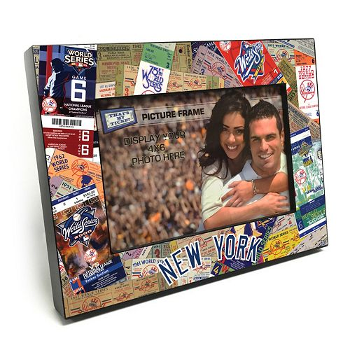 "New York Yankees Ticket Collage 4"" x 6"" Wooden Frame"