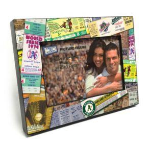 "Oakland Athletics Ticket Collage 4"" x 6"" Wooden Frame"