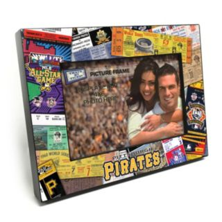 """Pittsburgh Pirates Ticket Collage 4"""" x 6"""" Wooden Frame"""