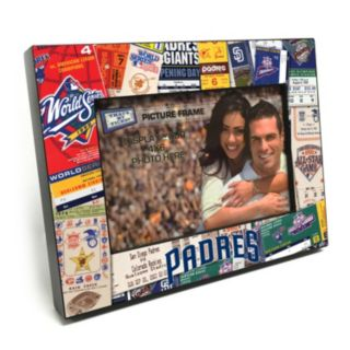 """San Diego Padres Ticket Collage 4"""" x 6"""" Wooden Frame"""