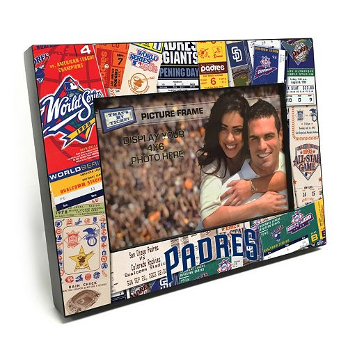 "San Diego Padres Ticket Collage 4"" x 6"" Wooden Frame"