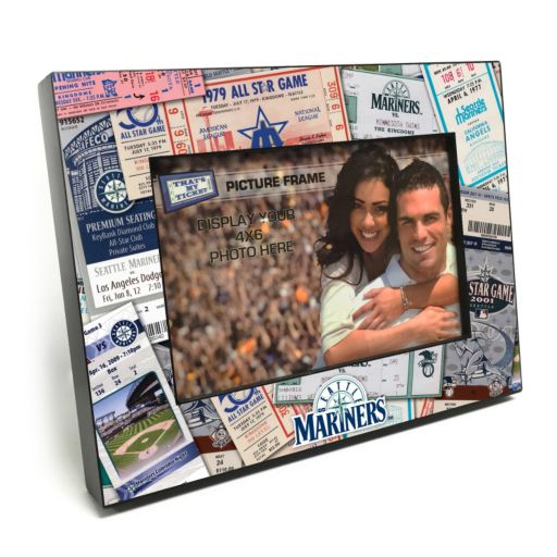 """Seattle Mariners Ticket Collage 4"""" x 6"""" Wooden Frame"""