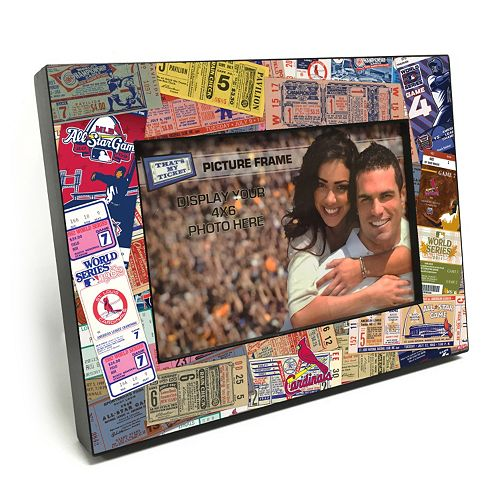 "St. Louis Cardinals Ticket Collage 4"" x 6"" Wooden Frame"