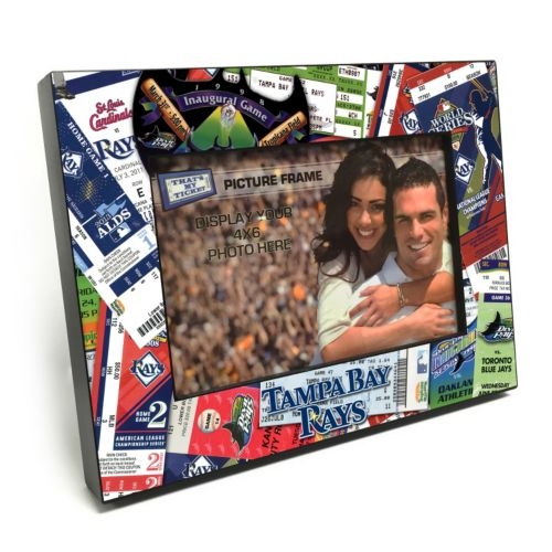 "Tampa Bay Rays Ticket Collage 4"" x 6"" Wooden Frame"
