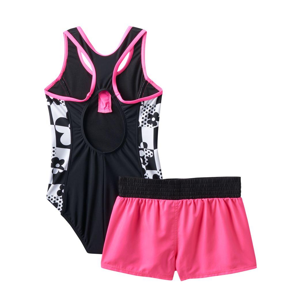 Girls 7-16 ZeroXposur One-Piece Swimsuit & Shorts Set