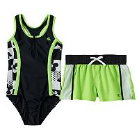 Girls 7-16 ZeroXposur One-Piece Swimsuit & Shorts Set