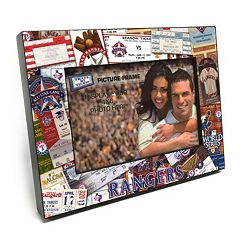 Texas Rangers Ticket Collage 4' x 6' Wooden Frame