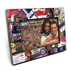 Washington Nationals Ticket Collage 4' x 6' Wooden Frame