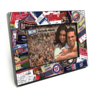 "Washington Nationals Ticket Collage 4"" x 6"" Wooden Frame"